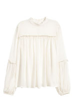 Chiffon blouse - White - Ladies | H&M CN 2
