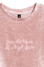 Crushed velvet top - Pink - Ladies | H&M 3