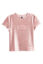 Crushed velvet top - Pink - Ladies | H&M 2