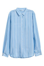 Striped shirt - Light blue/White - Ladies | H&M 2