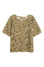 Lace top - Khaki green - Ladies | H&M CA 2