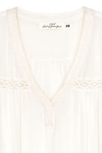Knee-length dress - White -  | H&M 3
