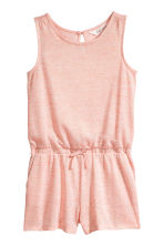Glittery playsuit - Powder pink marl -  | H&M CA 2