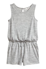 Glittery playsuit - Light grey marl -  | H&M 2