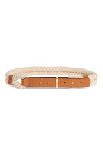 Braided waist belt - Natural white/Beige - Ladies | H&M 1
