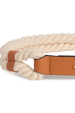 Braided waist belt - Natural white/Beige - Ladies | H&M 2