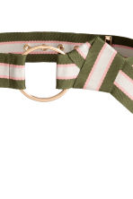 Wide waist belt - Khaki green/Striped - Ladies | H&M 2