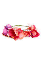 Hair decoration with flowers - Pink/Coral - Ladies | H&M 1
