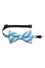 Striped bow tie - Blue/Mint green - Kids | H&M CN 1