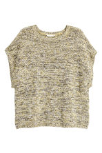 Knitted top - Light beige marl - Ladies | H&M 2