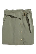 Lyocell wrap skirt - Khaki green - Ladies | H&M 2