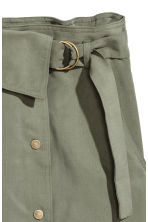 Lyocell wrap skirt - Khaki green - Ladies | H&M 3