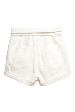 High-waisted twill shorts - White - Ladies | H&M CN 3