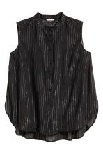 H&M+ Sleeveless blouse - Black/Striped - Ladies | H&M 1