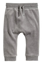 Velour trousers - Mole-grey -  | H&M 1