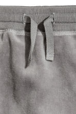 Velour trousers - Mole-grey -  | H&M 2