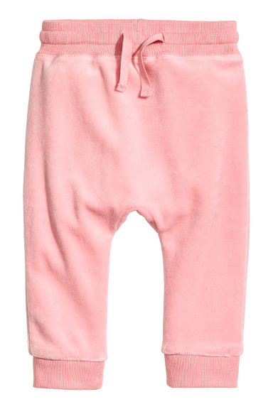 Velour trousers - Pink -  | H&M 1
