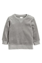 Felpa in velour - Grigio -  | H&M IT 1