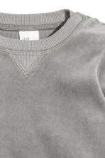 Velour sweatshirt - Grey -  | H&M 2