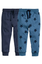 2-pack joggers - Blue/Star - Kids | H&M CN 2