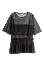 Tulle top - Black - Ladies | H&M CN 2