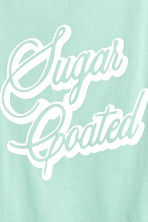Wide T-shirt - Mint green -  | H&M 3
