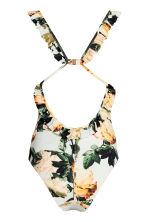 Swimsuit with a frill - Natural white/Floral -  | H&M GB 3