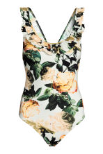 Swimsuit with a frill - Natural white/Floral -  | H&M GB 2