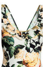 Swimsuit with a frill - Natural white/Floral -  | H&M GB 4