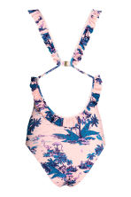 Swimsuit with a frill - Light pink/Palms -  | H&M 3