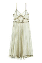 Transparent mesh dress - Light khaki - Ladies | H&M CN 2