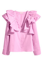 Ruffled blouse - Pink - Ladies | H&M CN 2