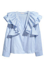 Ruffled blouse - Light blue - Ladies | H&M CN 2