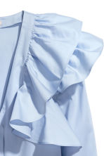 Ruffled blouse - Light blue - Ladies | H&M CN 3