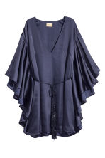 Satin dress - Dark blue -  | H&M 2