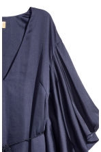 Satin dress - Dark blue -  | H&M 3