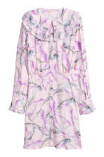 Patterned shirt dress - Light pink/Birds - Ladies | H&M CN 2