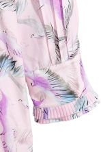 Patterned shirt dress - Light pink/Birds - Ladies | H&M CN 3