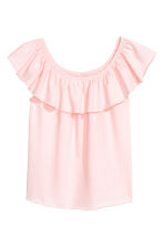 Flounced jersey top - Light pink -  | H&M CA 2