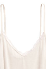 Strappy top with lace detail - Light beige - Ladies | H&M CN 3