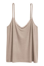 Strappy top with lace detail - Light mole - Ladies | H&M 2