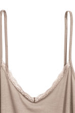 Strappy top with lace detail - Light mole - Ladies | H&M 3