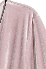 V-neck velour dress - Light heather - Ladies | H&M CN 3