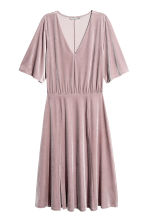 V-neck velour dress - Light heather - Ladies | H&M CN 2