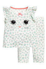 Jersey pyjamas - White/Grey - Kids | H&M 1