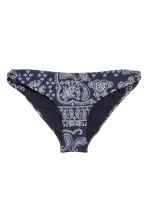 Bikini bottoms - Dark blue/Paisley - Ladies | H&M CN 2