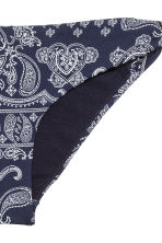 Bikini bottoms - Dark blue/Paisley - Ladies | H&M CN 3
