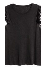 H&M+ Linen-blend top - Black - Ladies | H&M 2