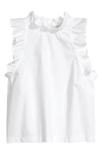 Sleeveless blouse - White - Ladies | H&M 3
