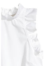 Sleeveless blouse - White - Ladies | H&M 4